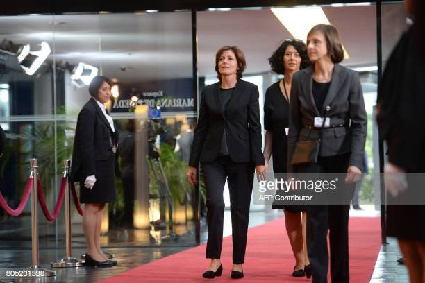 The German Federal Assemly President Malu Dreyer arrives at the European Parliament in Strasbourg eastern France on July 1 2017 before a ceremony in...
