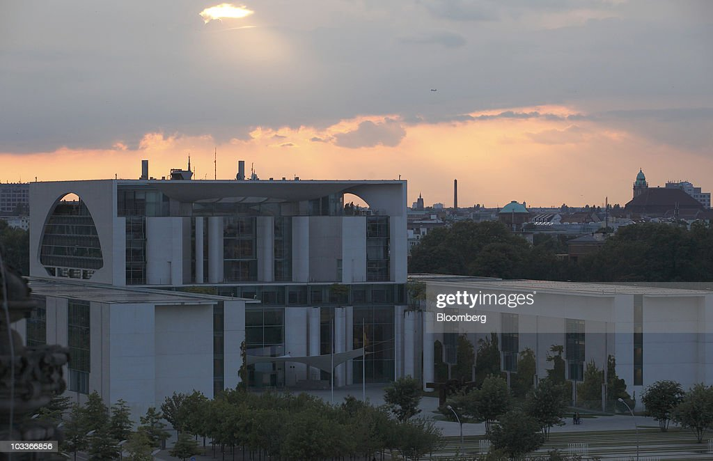 The German federal chancellory stands in Berlin Germany on Wednesday Aug 11 2010 Germany's economy grew in the second quarter at the fastest pace...
