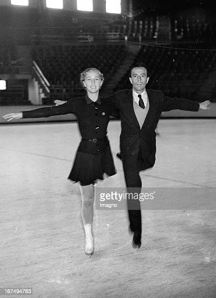 The German figure skating pair Maxi Herber and Ernst Baier practice at Empress Stadium / Earl's Court 27th February 1937 Photograph Das deutsche...