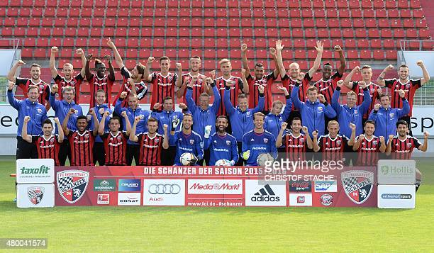 The German first division Bundesliga team of FC Ingolstadt 04 joke during the team presentation of the German first division Bundesliga team FC...