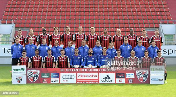 The German first division Bundesliga team of FC Ingolstadt 04 pose during the team presentation of the German first division Bundesliga team FC...