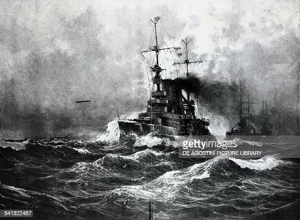 The German fleet after the Battle of Jutland illustration from Leipzig Illustrated Magazine Leipzig First World War Germany 20th century