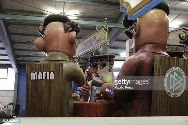 The German Football Association is depicted of sitting at the Stammtisch of the honourable society together with the Mafia and the banks The floats...