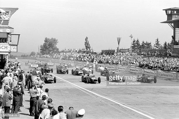 The German Grand Prix Nürburgring August 4 1957 A view of the start of what was to be one of the most exciting Grands Prix of all time As the cars...