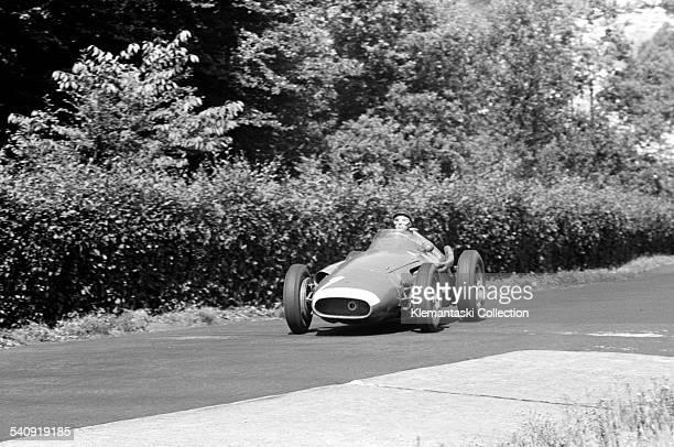 The German Grand Prix Nürburgring August 4 1957 Fangio braking for the Karussel