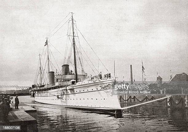 The German Kaiser's Yacht The Hohenzollern Ii In The Kiel Canal Germany In 1914 From The Year 1914 Illustrated