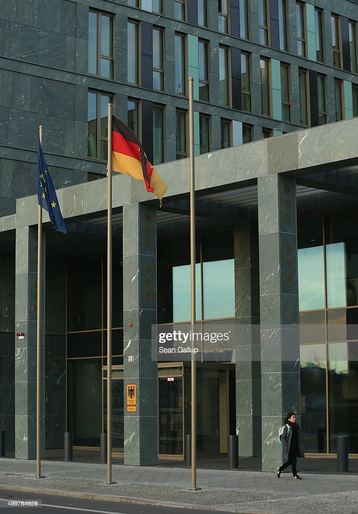 The German Ministry of Education and Research (Ministerium fuer Bildung und Forschung) stands on December 3, 2015 in Berlin, Germany. The building, located in central Berlin along the Spree river, was completed in 2014.