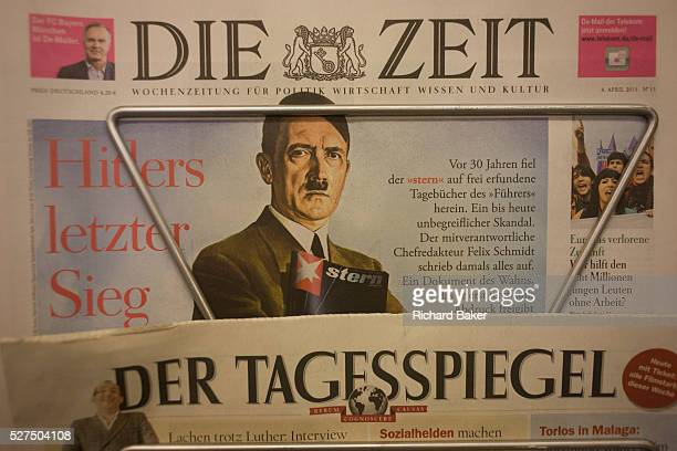 The German national Die Zeit newspaper displays a picture of Adolf Hitler on their front page a feature about Stern Magazine's controversial Hitler...