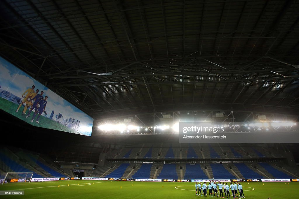 The German national football team during a training session at Astana arena on March 21, 2013 in Astana, Kazakhstan.