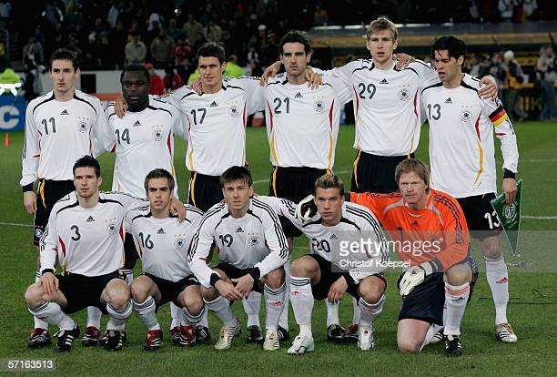 The German National Team pose before the international friendly match between Germany and the USA at the Signal Iduna Park on March 22 2006 in...