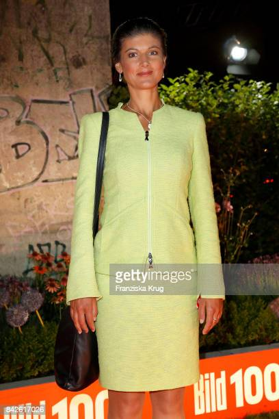 The German opposition leader Sahra Wagenknecht attends the BILD100 event at Axel Springer Haus on September 4 2017 in Berlin Germany