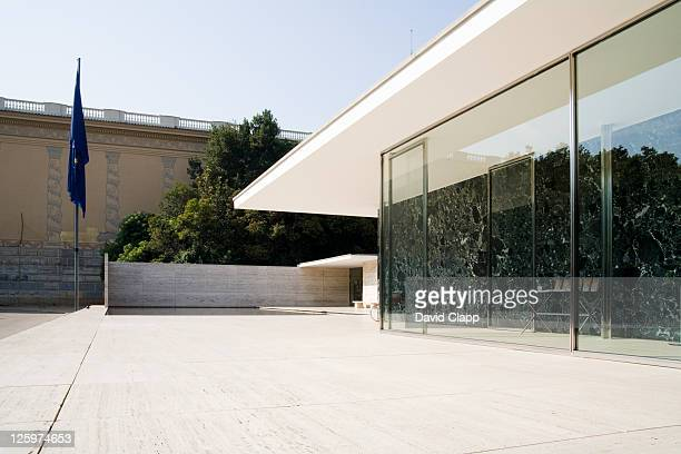 The German Pavilion, designed by Ludwig Mies van der Rohe, was the German Pavilion for the 1929 International Exposition in Barcelona, Spain, Europe