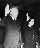 The German Professor And Mathematician Albert Einstein And His Daughter Margot Taking The Oath On The American Constitution And Becoming American...