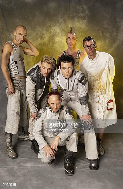 The German rock group Rammstein at the MTV European Music Awards in Frankfurt on November 8 2001 The band are Oliver Riedal Till Lindermann Flake...