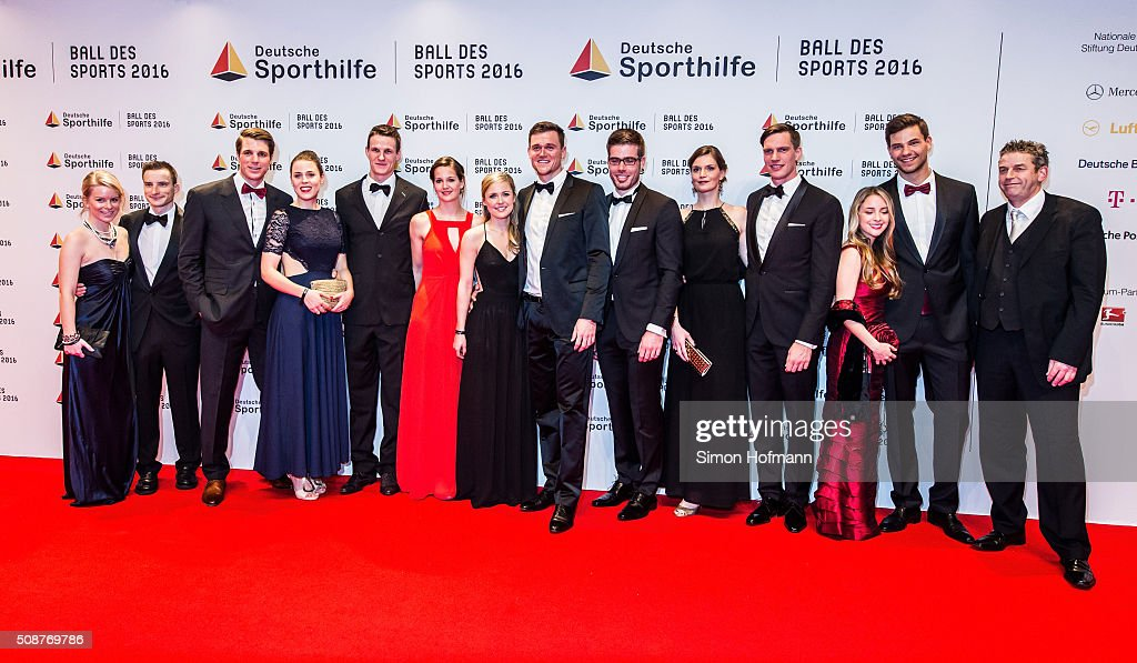 The German rowing eight attends German Sports Gala 'Ball des Sports 2016' on February 6, 2016 in Wiesbaden, Germany.