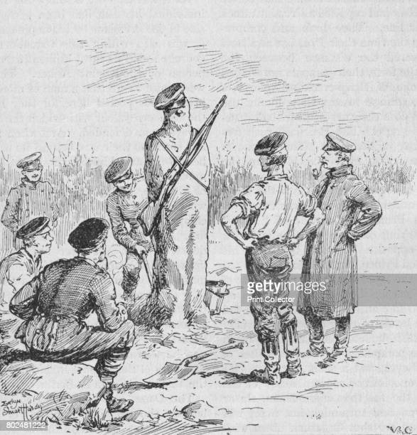 The German Soldiers Making Sentries Out of Clay' 1902 From Battles of the Nineteenth Century Vol I [Cassell and Company Limited London Paris New York...