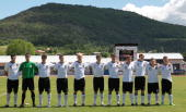 The German team poses prior the U16 International friendly match between France and Germany on June 2 2010 in Gap France