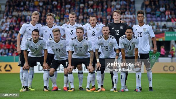 The German team Timo Baumgartl Waldemar Anton Lukas Klostermann Maximilian Eggestein Alexander Nuebel and Thilo Kehrer Levin Oeztunali Johannes...