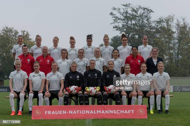 The german women national team while the team photo Rear row Joelle Wedemeyer Tabea Kemme Leonie Maier Linda Dallmann Hasret Kayikci Svenja Huth Lina...