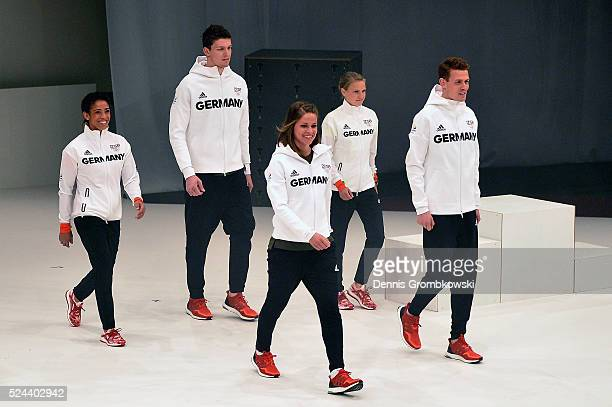 The Germany team kit for RIO 2016 is presented at CCD Dusseldorf on April 26 2016 in Duesseldorf Germany
