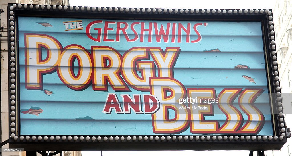 The Gershwins' 'Porgy and Bess' Theatre Marquee at the Richard Rogers Theatre in New York City