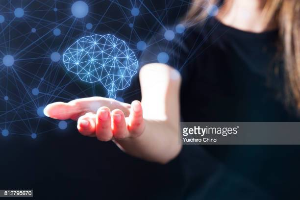 The gesture interface technology with human brain