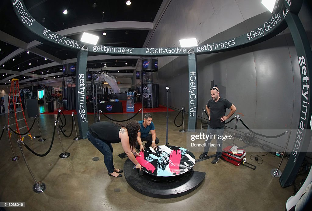 The Getty Image booth is shown at SneakerCon presented by Sprite, Rush Card, & FDA during the 2016 BET Experience at Los Angeles Convention Center on June 25, 2016 in Los Angeles, California.
