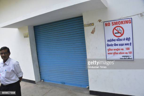The Ghaziabad administration seals nearly 40 establishments of dealers of fireworks after SC order on October 10 2017 in Ghaziabad India In an effort...