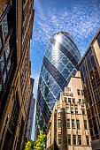 The Gherkin looking prominent in London