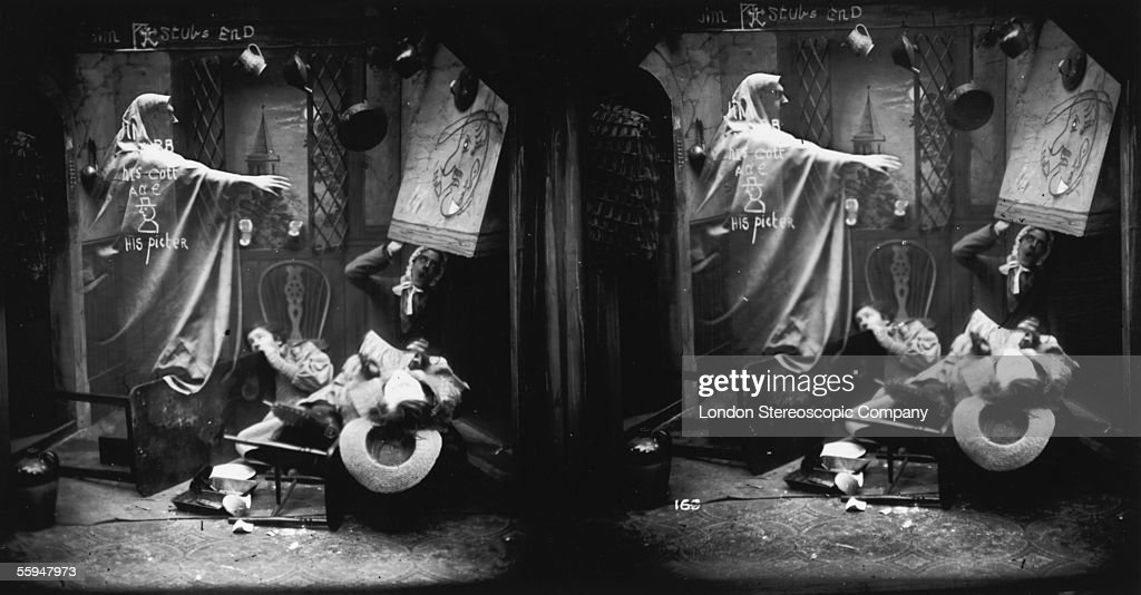 The ghost of Jim Stubbs returns to his old home to terrorise the new occupants, circa 1865.