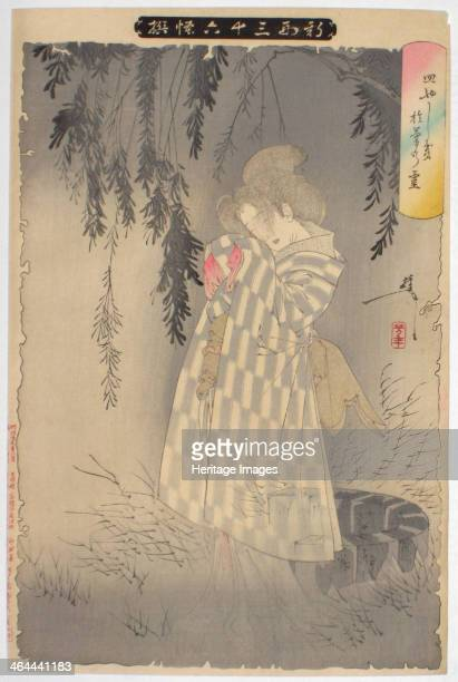 The ghost of Okiku at Sarayashiki 1890 From a private collection
