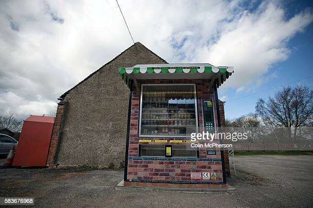 The giant vending machine designed and installed by local businessman Peter Fox in the tiny Derbyshire village of Clifton The fully automated...