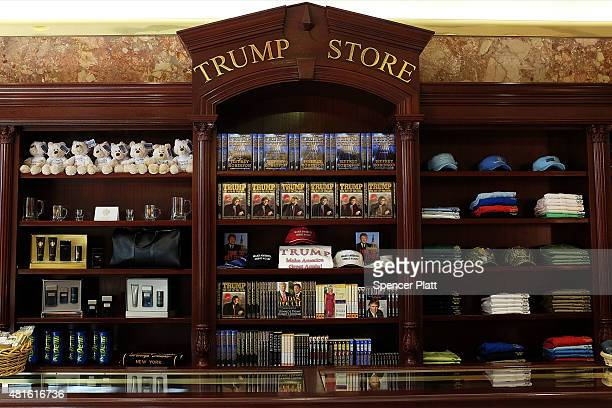 The gift shop in the Trump Tower building is viewed on 5th Avenue on July 22 2015 in New York City Donald Trump who is running for president on a...