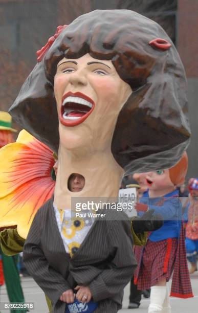 The Gilda Radner big head is seen at the 91st America's Thanksgivings Day Parade on November 23 2017 in Detroit Michigan