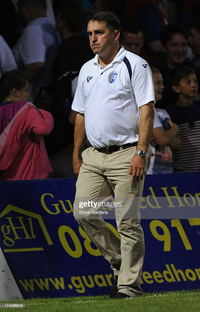 The Gillingham Manager Martin Allen after the pre season friendly match between Gillingham and Crystal Palace at Priestfield Stadium on July 23, 2013 in Gillingham, Medway.