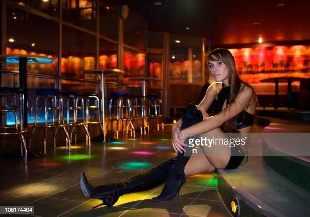 The girl in a night club