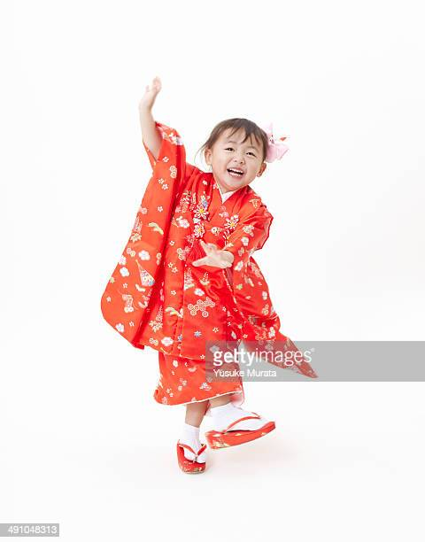 The girl is dressed for her Shichi-go-san ceremony