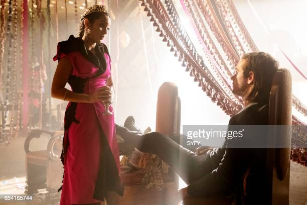 THE MAGICIANS 'The Girl Who Told Time' Episode 210 Pictured Summer Bishil as Margo Jason Ralph as Quentin