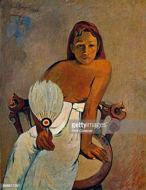 The Girl with a Fan 1902 Painting held a the Museum Folkwang Essen From Die Meister Des XX Jahrhunderts I [Verlag E A Seemann Leipzig 1935] Artist...