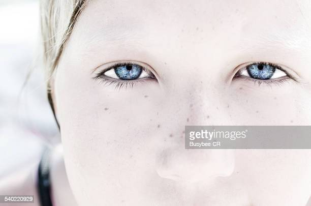 The girl with blue eyes