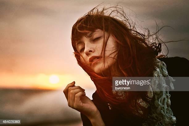 The girl with sun
