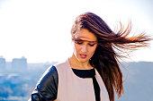 Women, Wind, Only Women, Human Face, Model, City, Urban