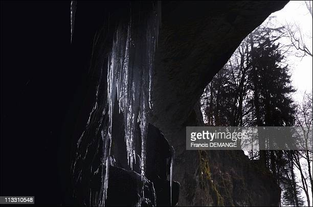 'The Glaciere' A Natural Wonder Melting Down In France On March 21St 2005 La Glaciere Cave The Ice Is Partly Produced By The Water Seeping From The...