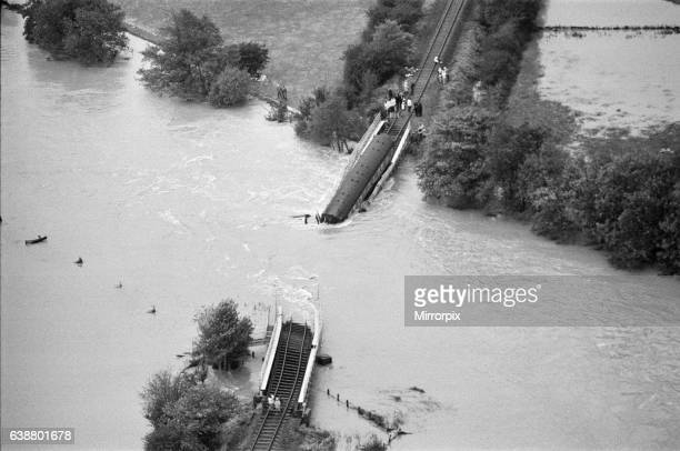 The Glanrhyd Bridge at The River Towey near Llandeilo Carmarthenshire Wales which collapsed and was swept away on 19 October 1987 due to flooding The...