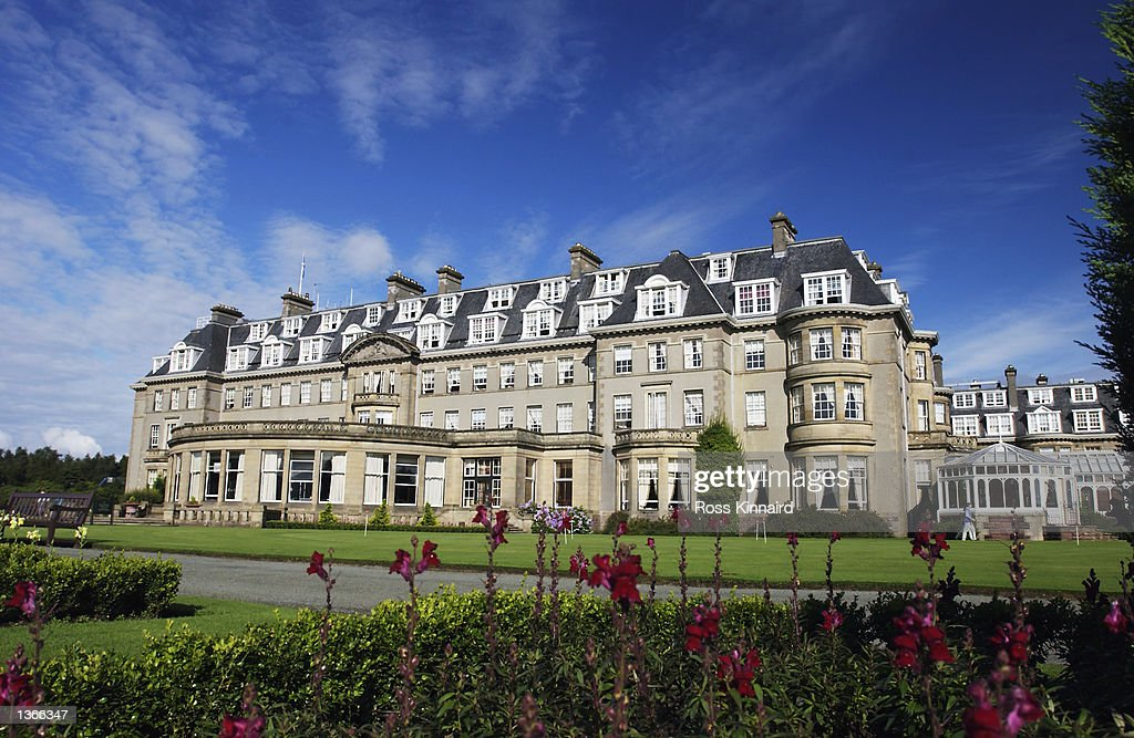 The Gleneagles Hotel during the third round of the Diageo Scottish PGA Championship being played on the PGA Centenary Course at Gleneagles Perthshire...