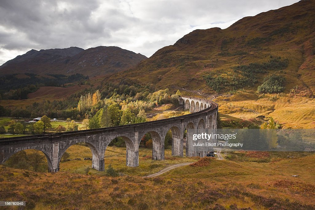 The Glenfinnan viaduct in the Scottish Highlands.