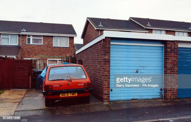 The Gloucester home of John West the brother of serial murderer Fred West showing the garage in which his body was found hanging last night on the...