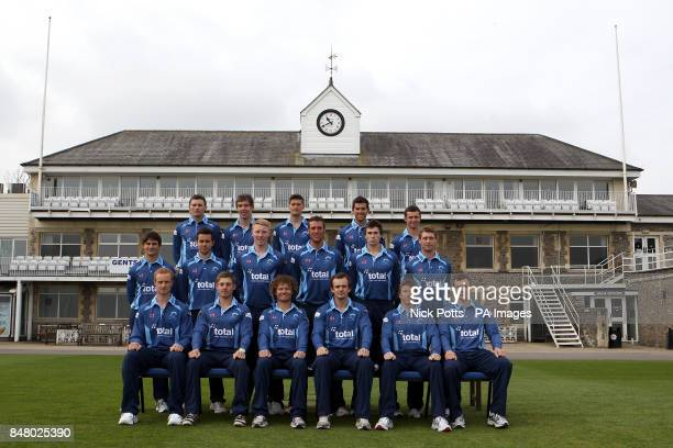The Gloucestershire County cricket club team photo in One Day kit Ian Saxelby Chris Dent Hamish Marshall Captain Alex Gidman Jonathan Batty Will...
