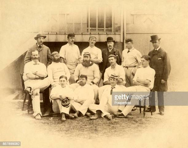 The Gloucestershire County Cricket team prior to a match against Sussex at Brighton circa June 1884 Sussex won by 49 runs Left to right back row...
