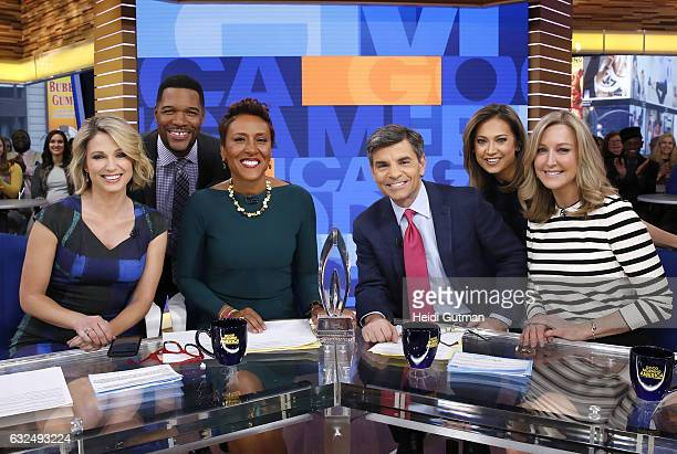 AMERICA The GMA crew won the Peoples Choice Award on 'Good Morning America' Monday January 23 2017 on the ABC Television Network AMY